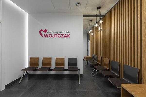 projekt architektoniczny gabinety lekarskie Wojtczak - projektowanie wnętrz Prima Wrocław