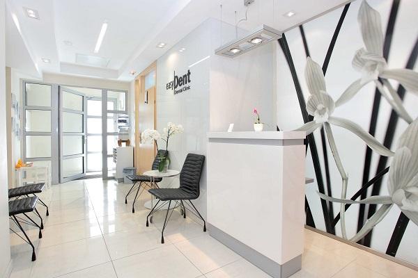 projekt architektoniczny wnętrza gabinetu stomatologii Easydent - projektowanie wnętrz Prima Wrocław