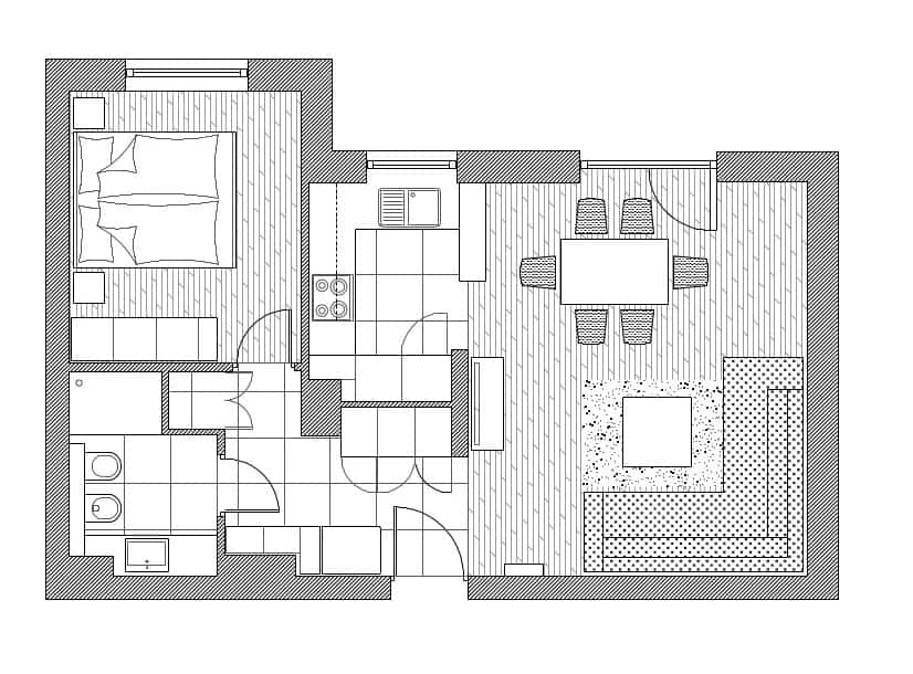 plan mieszkania - rzut z góry